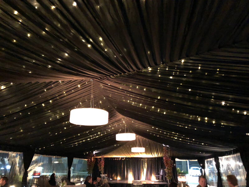 10m Black Marquee Draping image